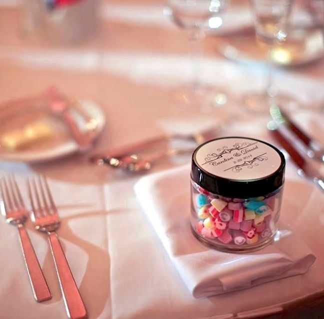 Cadeau invité mariage Pot verre 70g